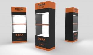 Read more about the article Projekt i produkcja mebla ekspozycyjnego dla firmy Doxa '14