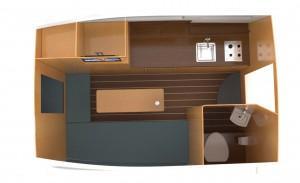 Projekt zabudowy wnętrze yachtu '13