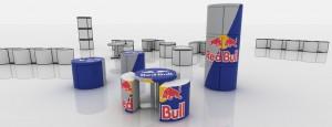 Projekt dla Red Bulla mebli eventowych '11