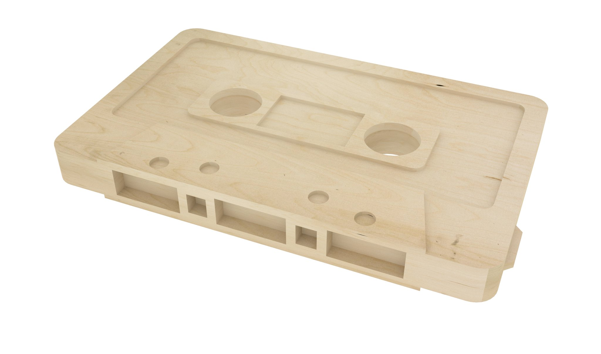 Projekt blatu stolika w formie kasety dla Muzo TV '14