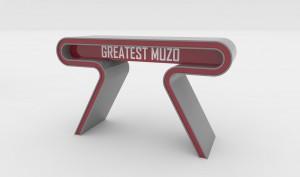 Projekt stolika dla prowadzącego program w Muzo TV '14