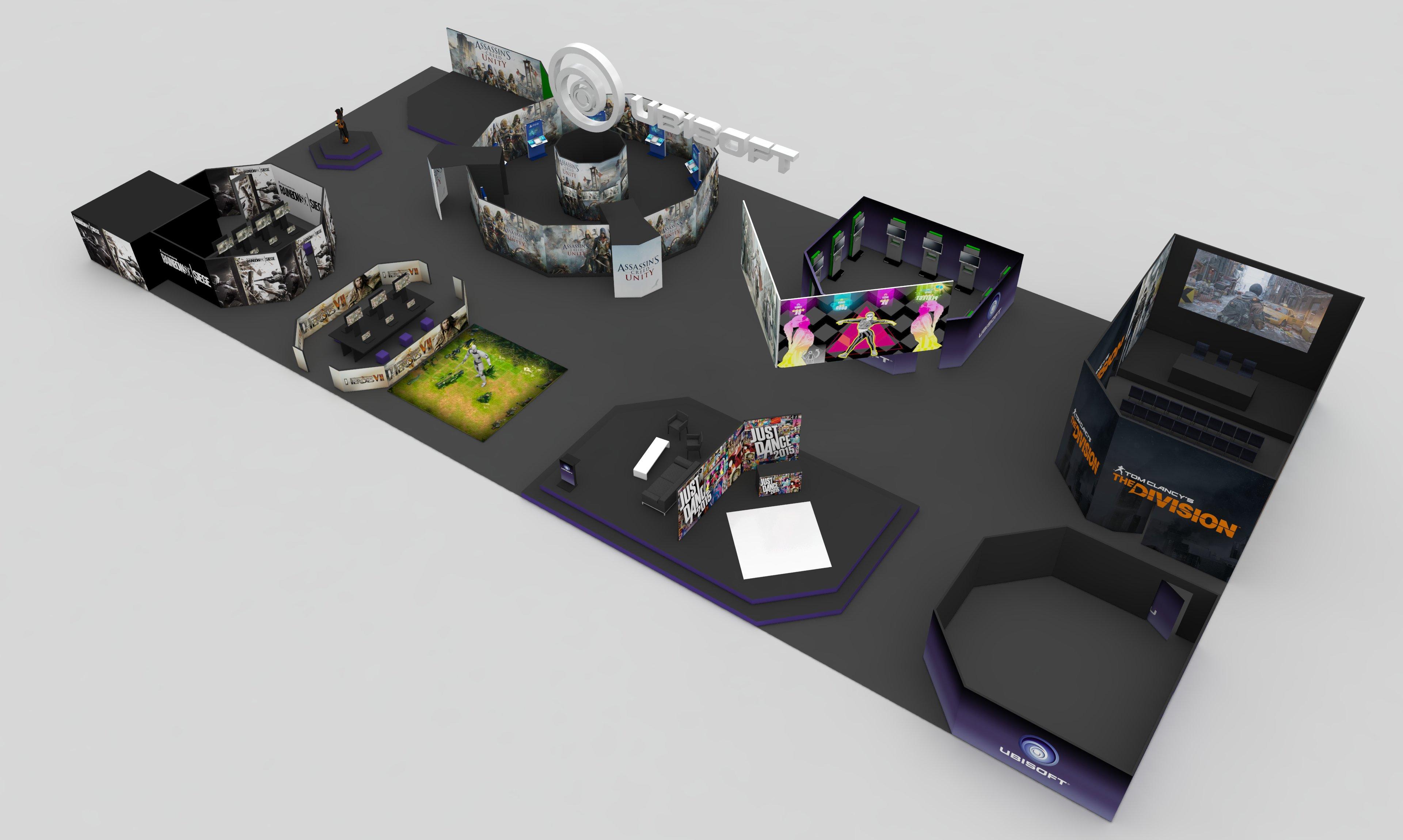 You are currently viewing Projekt koncepcyjny stoiska na targi gier dla Ubisoft '15